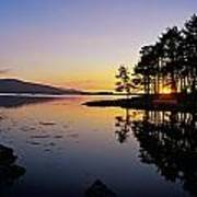 Sunset At The Lake, Kenmare, Ring Of Art Print