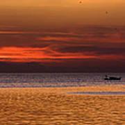 Sunset At The Sea Art Print