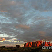 Sunset At Uluru Art Print