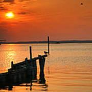 Sunset Bay V Art Print