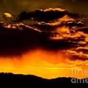 Sunset Behind Horsetooth Rock Art Print by Harry Strharsky