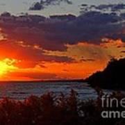 Sunset By The Beach Art Print