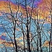 Sunset Cloud Colors  4 Art Print