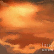 Sunset Clouds Art Print by Pixel Chimp