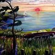 Sunset Cruisin' Art Print