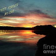 Sunset Forever My Love Art Print