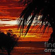 Sunset In Cancun Art Print