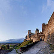 Sunset In Carcassonne Art Print by Robert Lacy