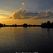 Sunset In Clearwater Florida Art Print