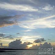 Sunset In Majuro Art Print