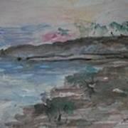 Sunset In Mendocino Art Print