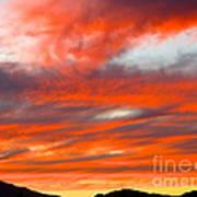 Sunset In Motion Art Print