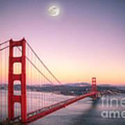 Sunset In San Francisco Art Print