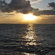 Sunset In The Black Sea Art Print
