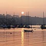 Sunset In The Harbor Crosshaven County Art Print