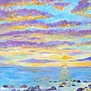 Sunset Maui Art Print