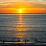 Sunset - Moana Beach - South Australia Art Print