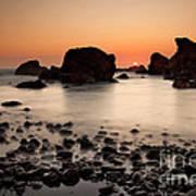 Sunset On A Rock Art Print