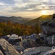 Sunset On Black Rock Mountain Art Print