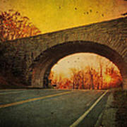Sunset On Blue Ridge Parkway Art Print by Kathy Jennings