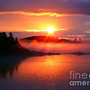 Sunset On Campobello Island  Art Print