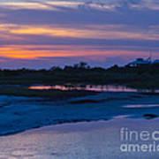 Sunset On Honeymoon Island Art Print