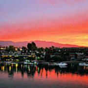 Sunset On Lake Havasu Art Print