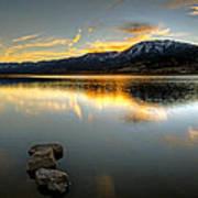 Sunset On Little Washoe Art Print