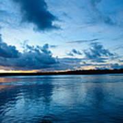 Sunset On Noosa River Art Print