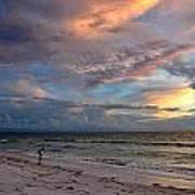 Sunset On Pass-a-grille Beach Florida Art Print