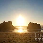 Sunset On Ruby Beach Art Print