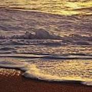 Sunset On Small Wave Art Print