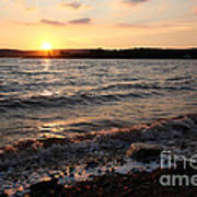 Sunset On The Bay Of Fundy Art Print