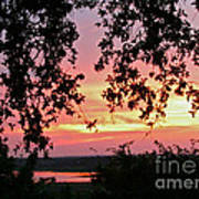 Sunset Over Canyon Lake Art Print