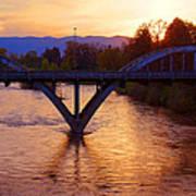 Sunset Over Caveman Bridge Art Print