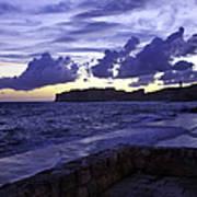 Sunset Over Dubrovnik Art Print