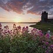 Sunset Over Dunguaire Castle, Kinvara Art Print