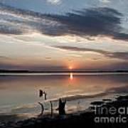Sunset Over Lovewell Lake Art Print