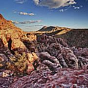 Sunset Over Red Rocks Art Print