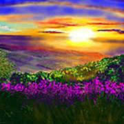 Sunset Over Rosedale Art Print