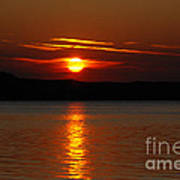 Sunset Over Silver Lake Sand Dunes Art Print