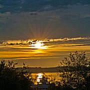Sunset Over Steilacoom Bay Art Print