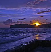 Sunset Over The Adriatic Art Print