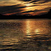 Sunset Over The Lake - 3rd Place Win Art Print