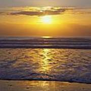 Sunset Over The Pacific Ocean Along The Art Print by Craig Tuttle