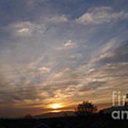 Sunset Over The San Fernando Valley Art Print