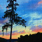 Sunset Over The Suwanee Mosaic Art Print