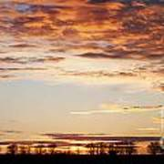 Sunset Over The Tree Line Art Print