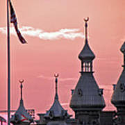 Sunset Over The University Of Tampa Art Print
