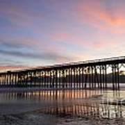 Sunset Pier San Simeon California 1 Art Print